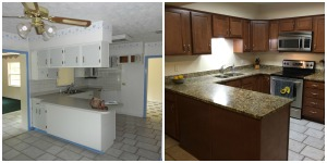My favorite transformation: the kitchen!