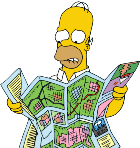 Homer_Looking_at_Map_(Artwork)