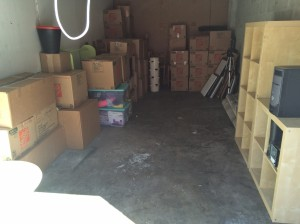 The storage unit, which now houses most of our possessions