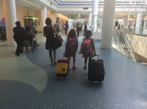 We made the Littles drag their own belongings.