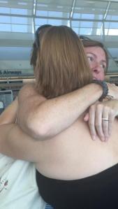 Hugs and crying
