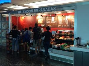 Empanadas at the Miami Airport